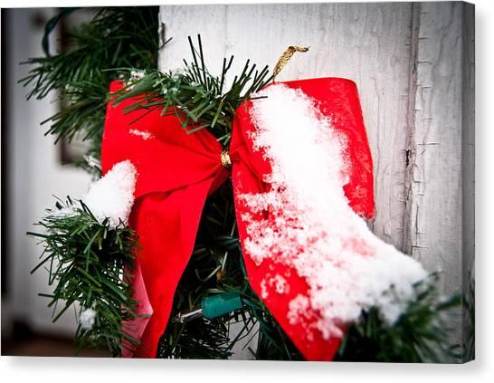 Christmas Bow  Canvas Print by Nickaleen Neff