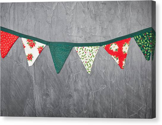 Buntings Canvas Print - Christmas Bunting by Tom Gowanlock