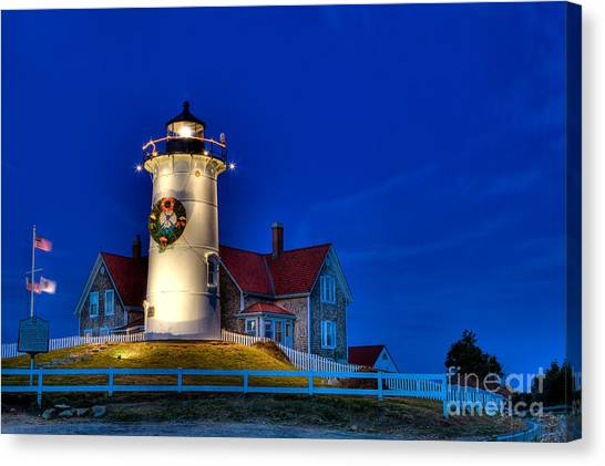 Christmas By The Sea Canvas Print by Michael Petrizzo