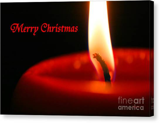 Christmas Candle Canvas Print