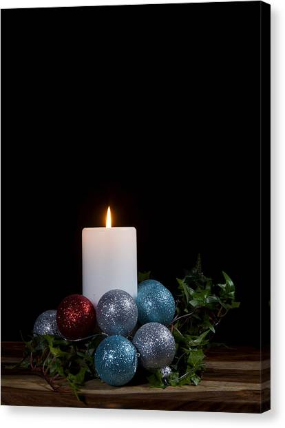 Fuselier Canvas Print - Christmas Candle2 by Cecil Fuselier