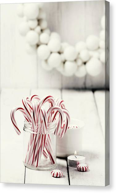 Christmas Candy Canvas Print by Claudia Totir