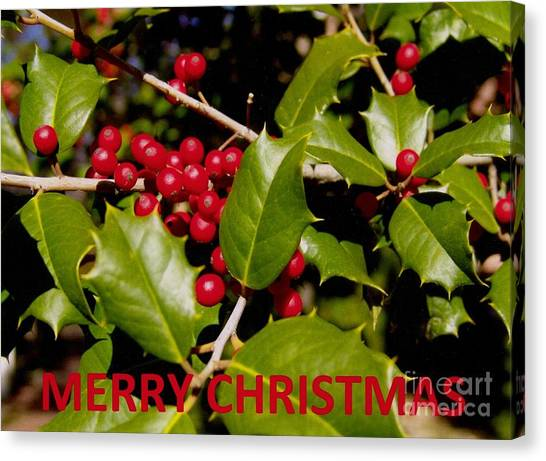 Christmas Card 1  Canvas Print