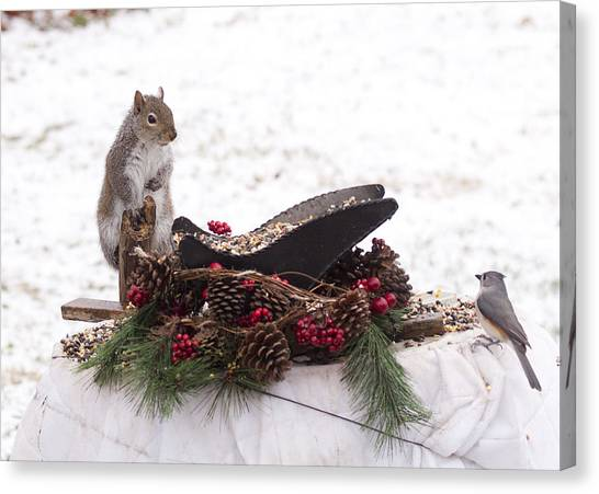 Christmas Critters Canvas Print