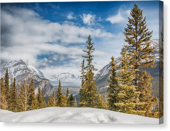Christmas Day In Banff Canvas Print