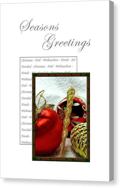 Christmas Decoration 3 Canvas Print