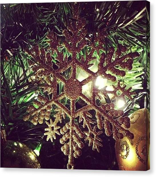 Snowflakes Canvas Print - Christmas Decorations On The Tree! by Alannah Pummell