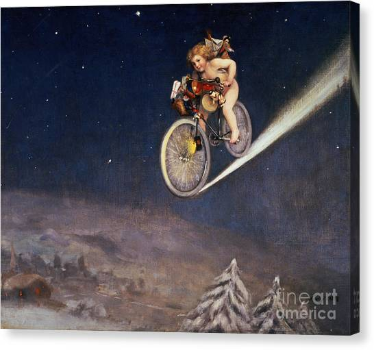 Bicycle Canvas Print - Christmas Delivery by Jose Frappa