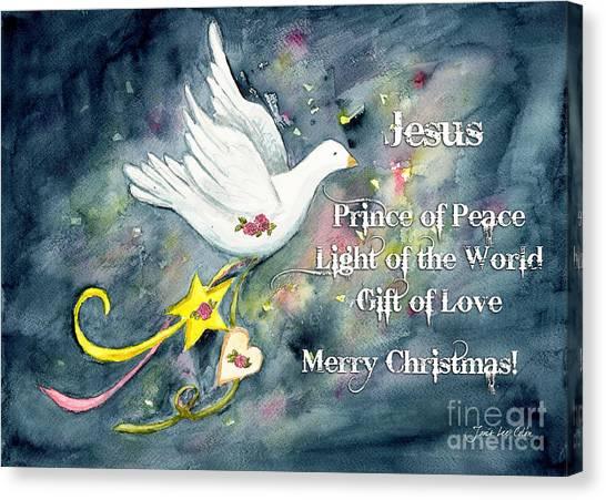 Christmas Dove Canvas Print