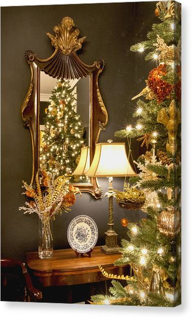 Christmas Elegance Canvas Print by Carol Erikson