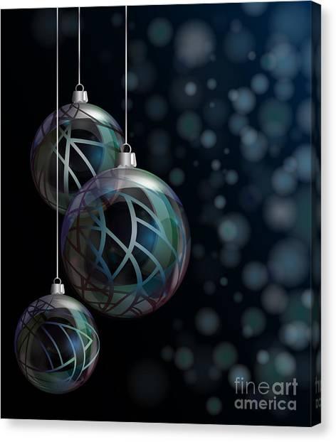 Vibrant Canvas Print - Christmas Elegant Glass Baubles by Jane Rix