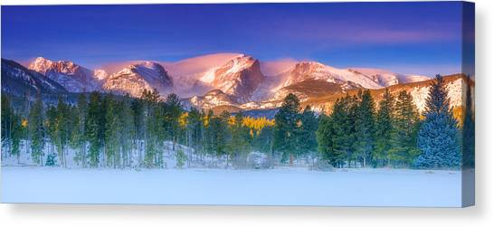 Lake Sunrises Canvas Print - Christmas Eve At Sprague Lake by Darren  White