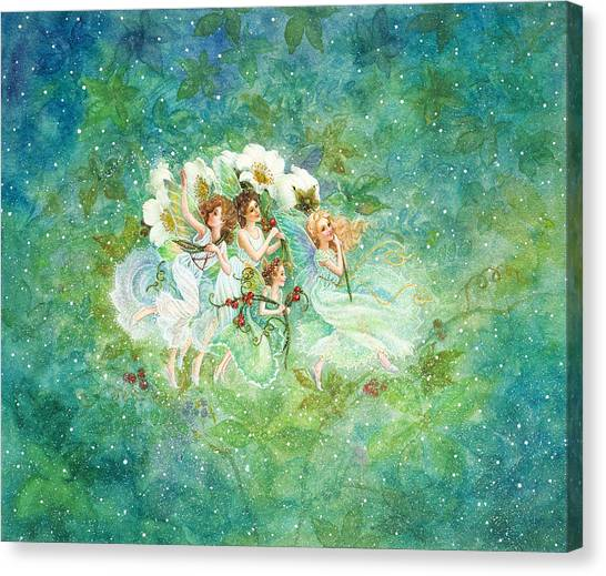 Christmas Fairies Canvas Print