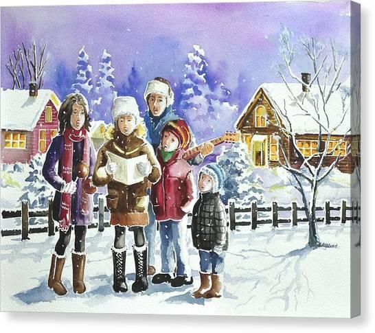Christmas Family Caroling Canvas Print