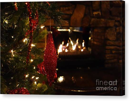 Fire Ball Canvas Print - Christmas Fire by Jacqueline Athmann