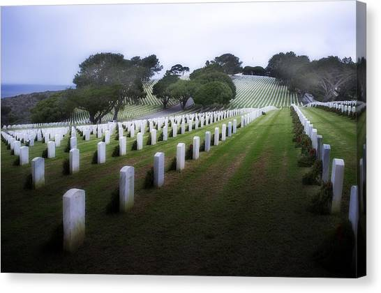 Fort Rosecrans National Cemetery Canvas Print - Christmas Fort Rosecrans National Cemetery  by Hugh Smith