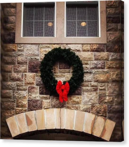 Wreath Canvas Print - Christmas Frown by Michael Gonzalez