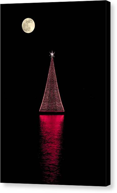 Christmas Full Moon Canvas Print