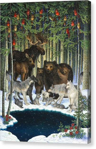 Christmas Gathering Canvas Print