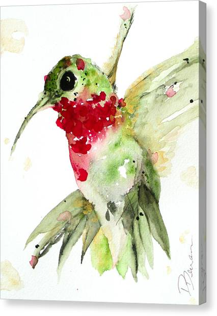 Christmas Hummer Canvas Print