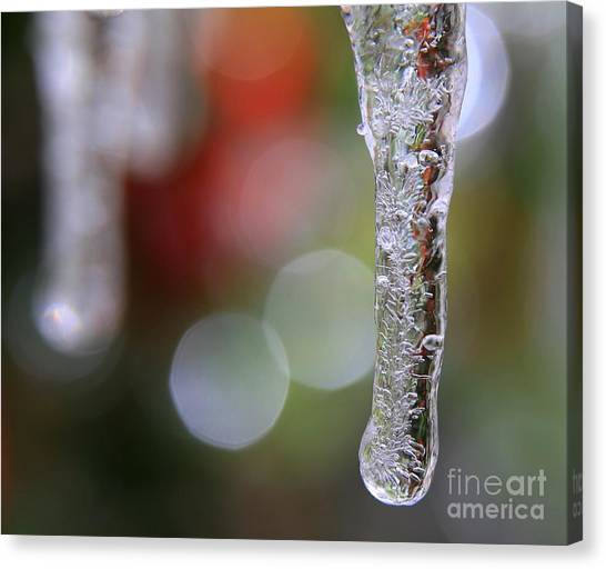 Christmas Icicles Canvas Print
