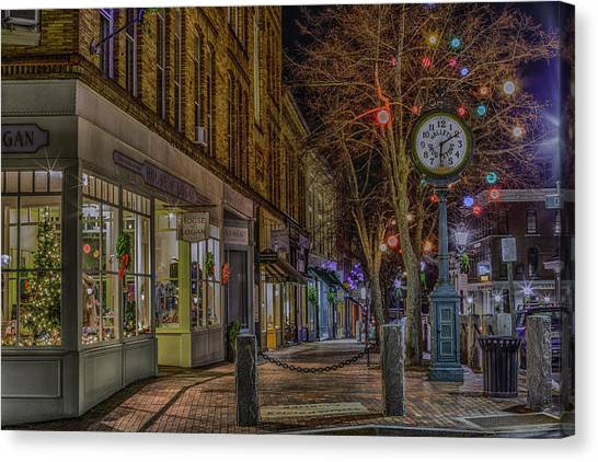 Christmas In Bath Canvas Print