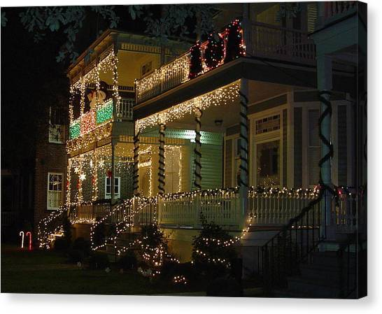 Christmas In Charleston Canvas Print by Richard Marcus