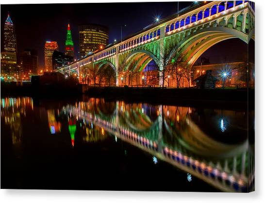 Christmas In Cleveland Canvas Print