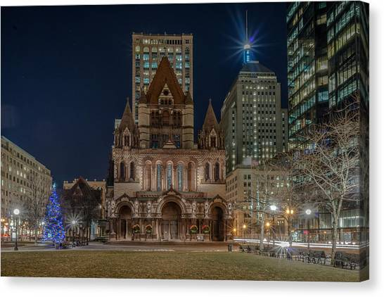 Christmas In Copley  Canvas Print