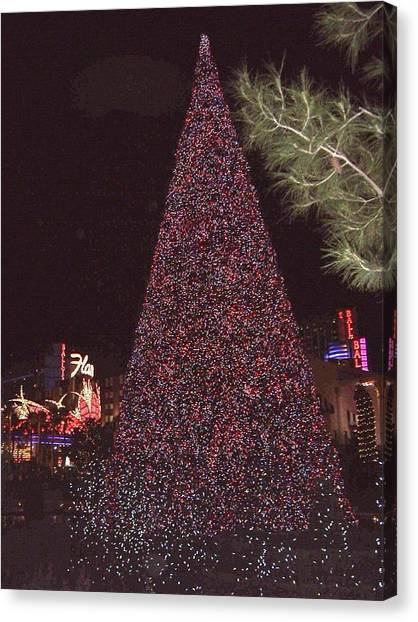 Christmas In Las Vegas Canvas Print