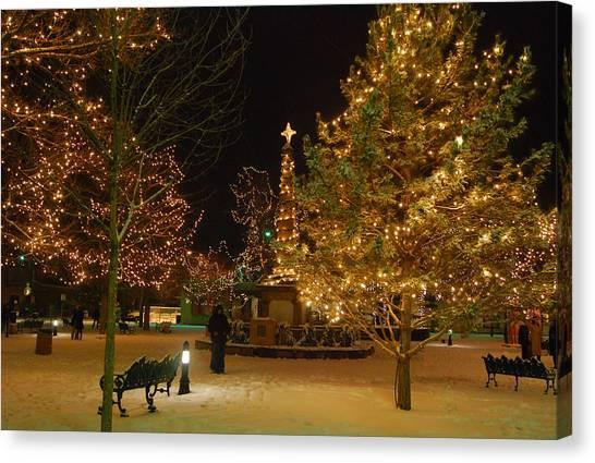 Christmas In Santa Fe Canvas Print