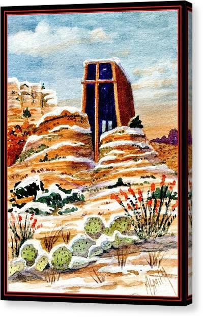 Christmas In Sedona Canvas Print