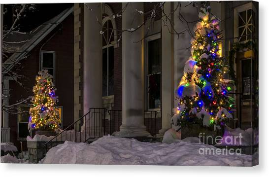Christmas In Stowe Vermont. Canvas Print