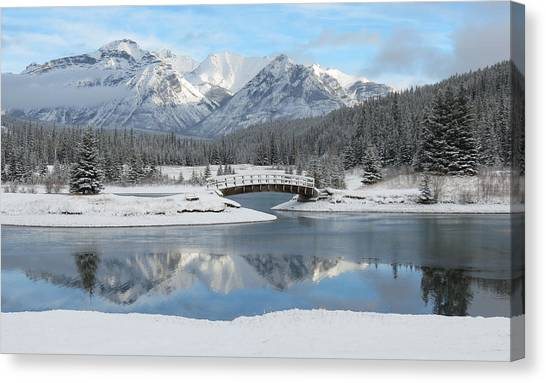 Christmas In The Rockies Canvas Print