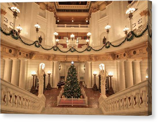 Christmas In The Rotunda Canvas Print