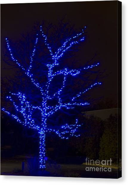 Christmas Light Series No 2  Blue  Canvas Print