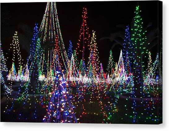 Christmas Lights 3 Canvas Print