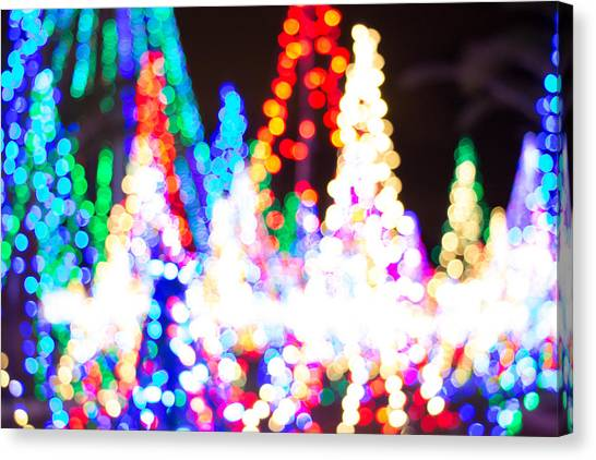 Christmas Lights Abstract Canvas Print
