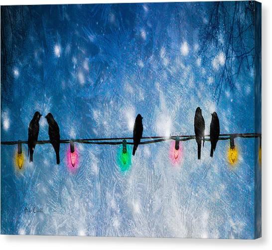 Christmas Lights Canvas Print - Christmas Lights by Bob Orsillo