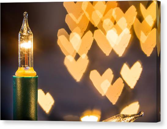 Canvas Print featuring the photograph Christmas Lights. by Gary Gillette