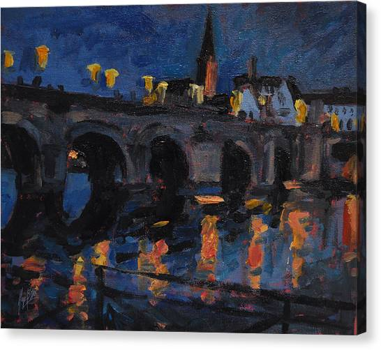 Briex Canvas Print - Christmas Lights Maastricht by Nop Briex