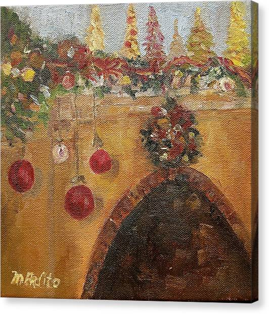 Christmas Mantle At The Mission Inn Canvas Print