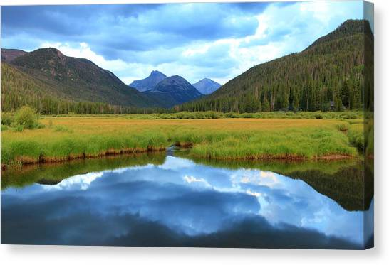 Christmas Meadows In The Uinta Mountains. Canvas Print