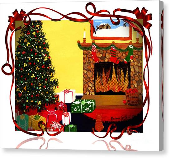Fire Ball Canvas Print - Christmas - Memories - Ribbons - Bows by Barbara Griffin