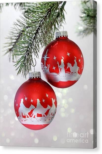 Christmas Nativity Ornaments Canvas Print