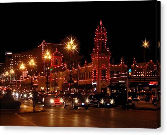 Christmas On The Plaza Canvas Print