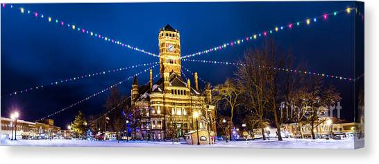 Canvas Print featuring the photograph Christmas On The Square by Michael Arend
