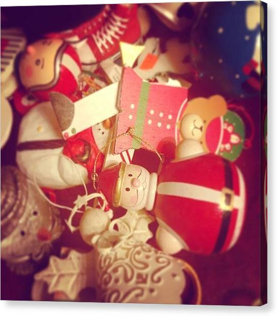 Holidays Canvas Print - Christmas Ornaments by Kay Pickens