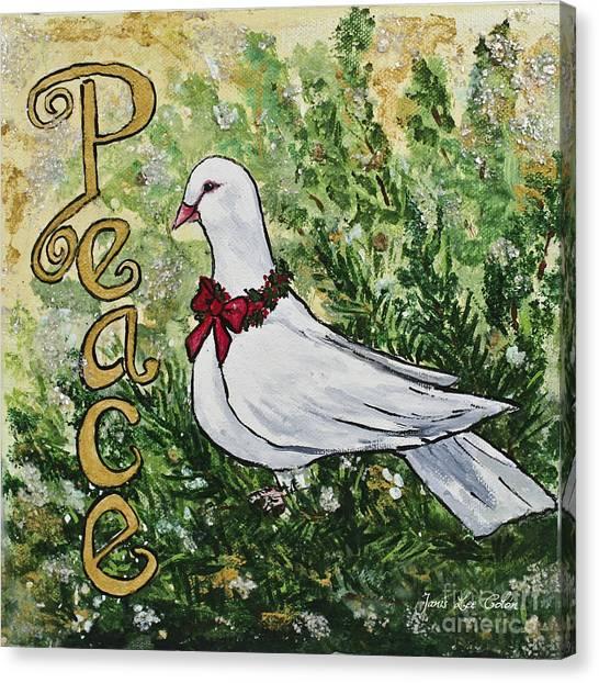Christmas Peace Dove Canvas Print