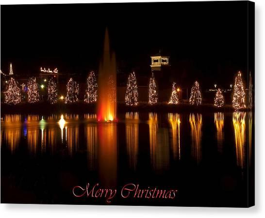 Christmas Reflection - Christmas Card Canvas Print